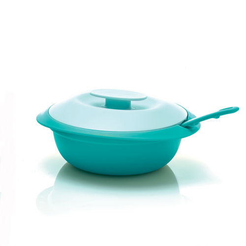 PETITE BLOSSOM SAUCY DISH TOSCA WITH DEEP SPOON